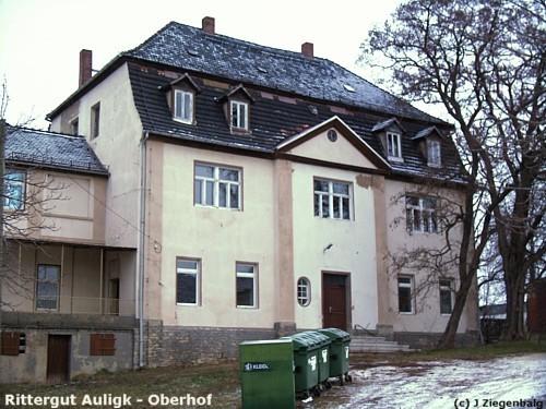 Groitzsch: Rittergut Auligk Oberhof